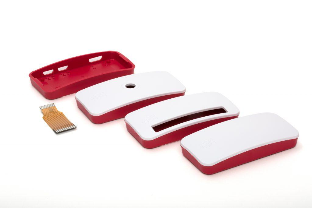 Case oficial vermelha e branca do raspberry pi zero w